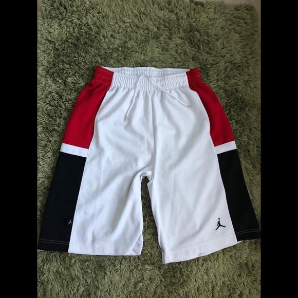 121218ad7e75 Jordan Other - Jordan basketball shorts white red black medium A1